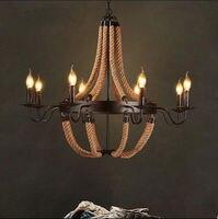 Промышленные дом железа свеча люстра свет лампы кафе бар ресторан трубы современный декор комнаты Led свет люстры