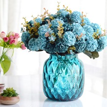 10 Head Ball Chrysanthemum Simulation Flower Wholesale European Plant Home Decoration Fake Artificial Decorati