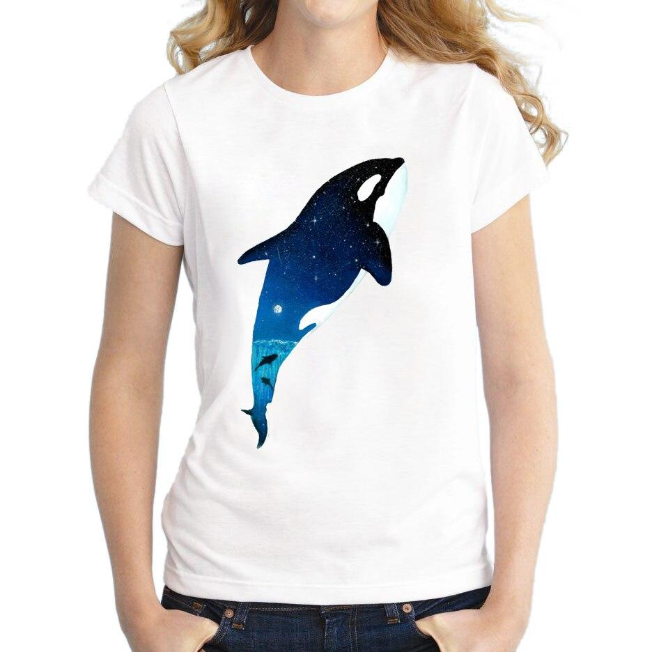 Design t shirt galaxy - 2017 New Fashion Starry Animal Design Women T Shirt Short Sleeve Casual T Shirts Galaxy