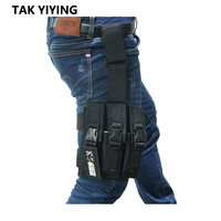 Tactical Airsoft Quick Release MP5 Drop Leg Triple Mag Pouch Holder MOLLE Magazine Pouch Cartridge Clip