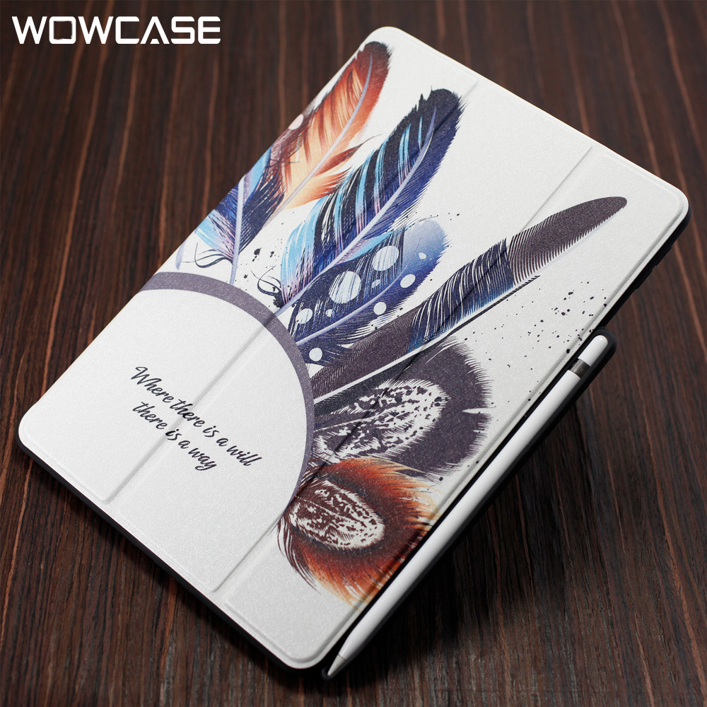 WOWCASE Silk Leather Flip Cases For iPad 2018 Case With Pencil Holder Smart Slee