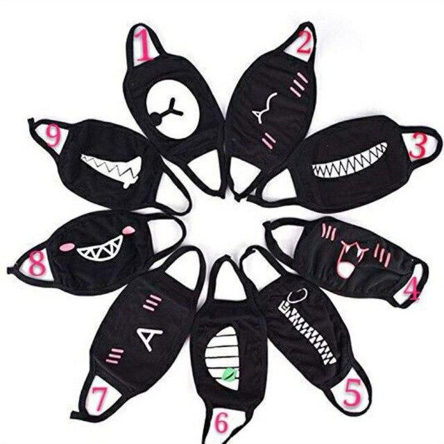 1PCS Cotton Dustproof Mouth Face Mask party mask Anime Cartoon Kpop Lucky Bear Women Men Muffle Face Mouth Masks 1