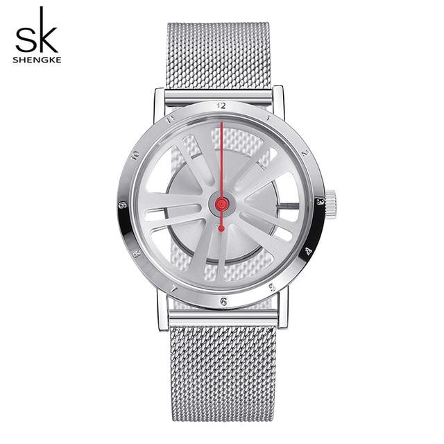 Shengke Creativo Del Braccialetto Delle Signore Orologi Reloj Mujer 2019 Top Bra