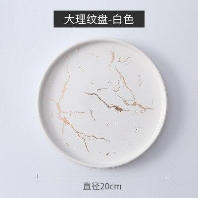 20cm White Round