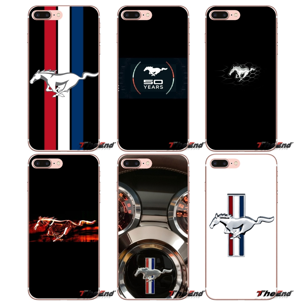 Ford mustang horse logo for iphone xs max xr x 4 4s 5 5s 5c se