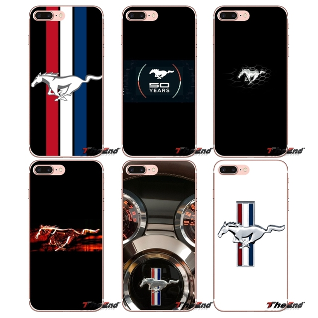 Ford Mustang Horse Logo For Iphone Xs Max Xr X 4 4s 5 5s 5c Se 6 6s 7 8 Plus Samsung Galaxy J1 J3 J5 J7 A3 A5 Soft Silicone Case
