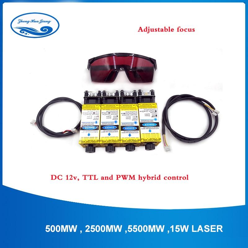 DIY Blue Violet Laser Module 450nm 0.5W /2.5W/3.5W/5.5W/15W CNC Laser Engraving For Cnc