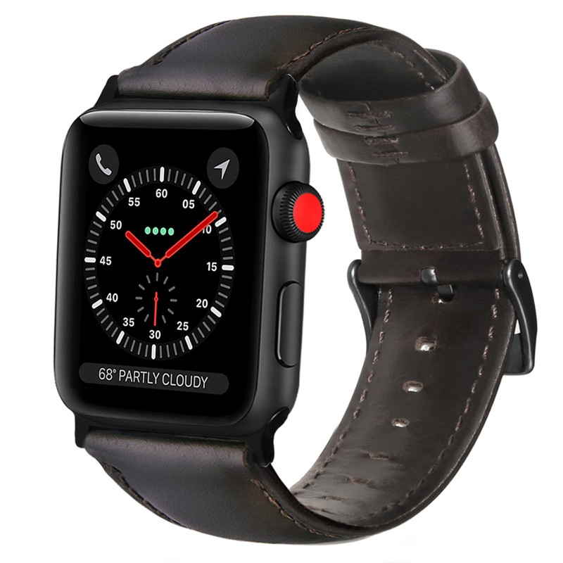 ASHEI Retro Vintage Leather Strap For Apple Watch Iwatch Series 3 42mm 38mm Band Sport Watchbands For Apple Watch 1 2 Bracelet