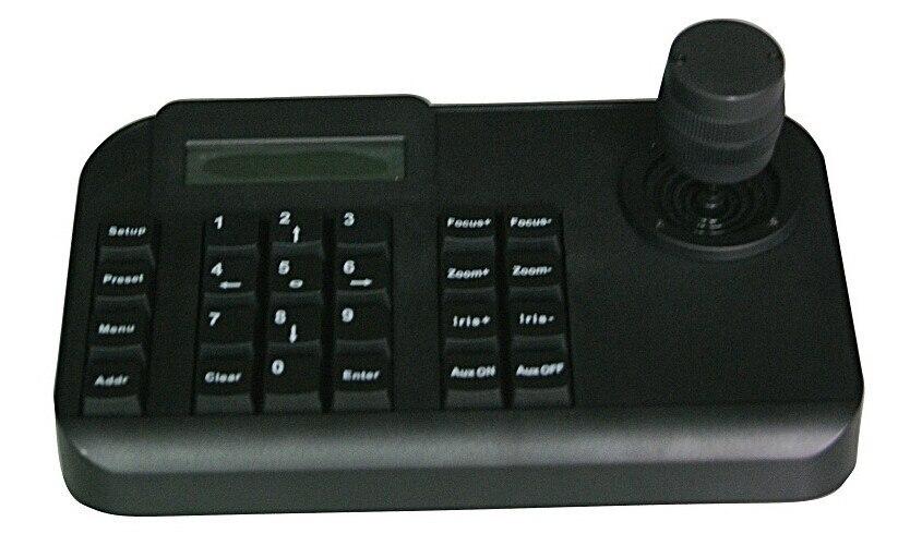 Contrôleur de protocole de PELCO de clavier de Joystick de RS485 3D pour la caméra analogique de télévision en circuit fermé PTZ AHD PTZ et HD SDI PTZ