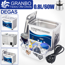 800ml Stainless Steel Bath Ultrasonic Cleaning Machine 60W Piezoelectric Transducer Glasses Cellphone Board Jewelry Washer