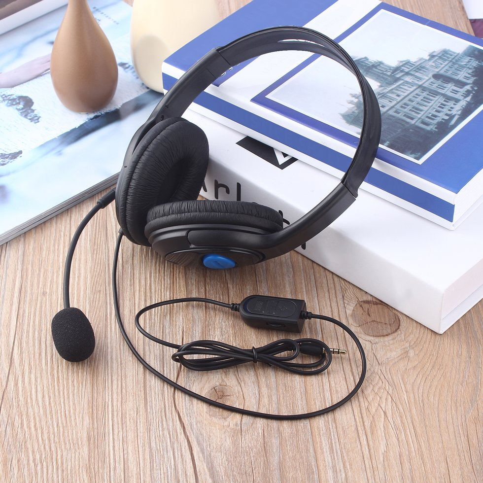 10PCS Wired Gaming Headset Headphones with Microphone for Sony PS4 PlayStation 4 3 5mm wired headphone game gaming headphones headset with microphone mic earphone for ps4 sony playstation 4 pc computer hot