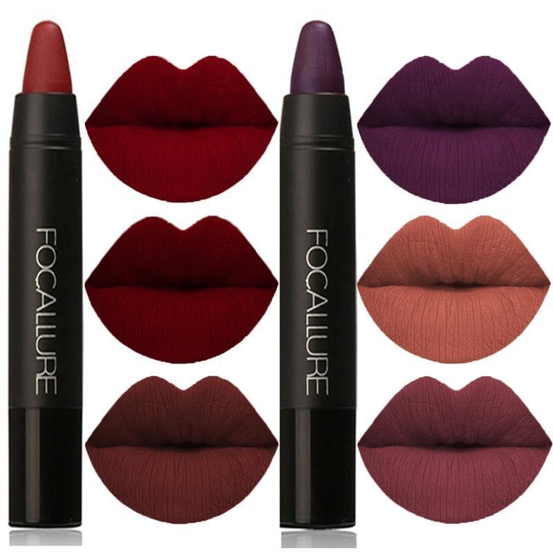FOCALLURE Matte Lipstick Pen Waterproof Long Lasting 19-color Lip Makeup Moisturizing Lasting Non-marking Matt Lipstick Z3