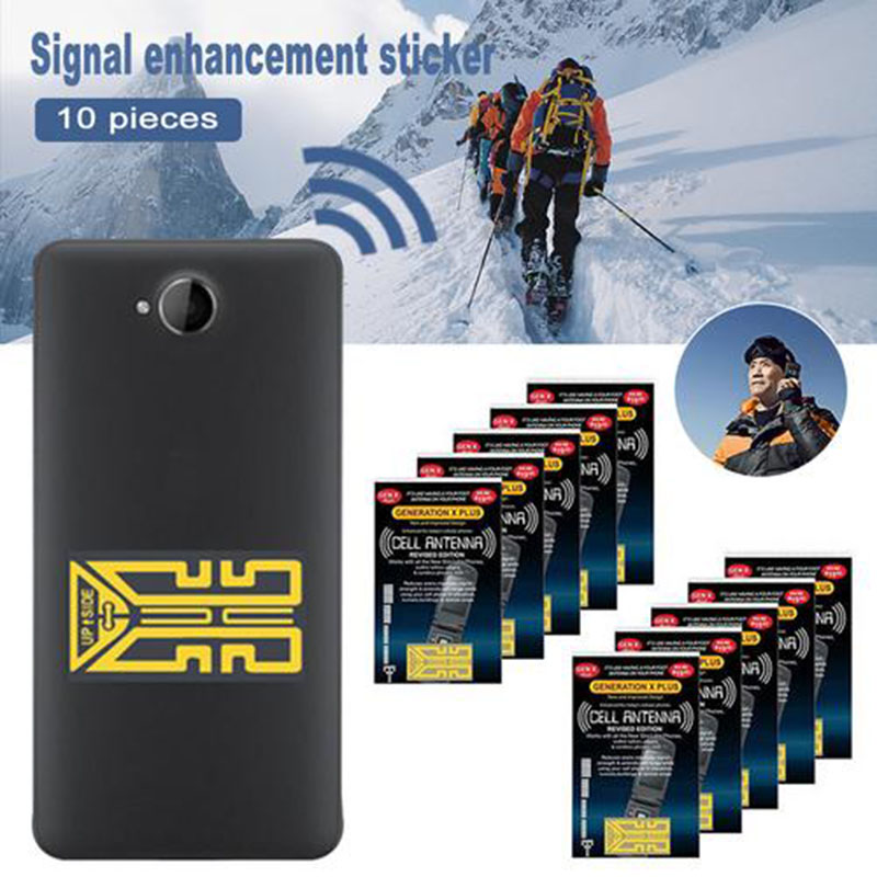 10 PCS Cellphone Phone Signal Enhancement Gen X Antenna Booster Improve Signal Antenna Booster Stickers Outdoor Camping Tools