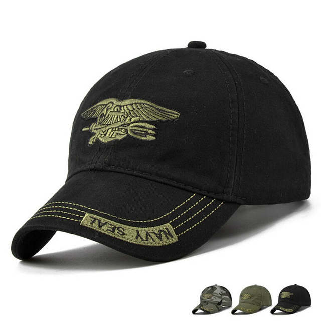 6e70b3f921c placeholder New Men Navy Seal Cap Top Quality Army green Snapback Caps  Hunting Fishing Hat Outdoor Camo