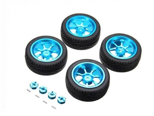 Moyeu de roue en métal et kit de peau foetale de pneu pour 1/18 WL RC a949 a959-b a969-b a979 k929 RC pièces de voiture