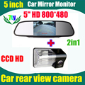 Для Toyota Avensis 2006 2007 2008 венчик 2007 2008 2009 2010 BYD F3 авто резервного копирования парковочная камера + 5 дюймов авто монитор зеркало
