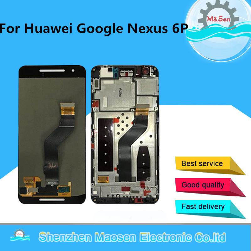 M Sen For 5 7 Huawei Google Nexus 6P Lcd Screen Display Touch Panel Digitizer With