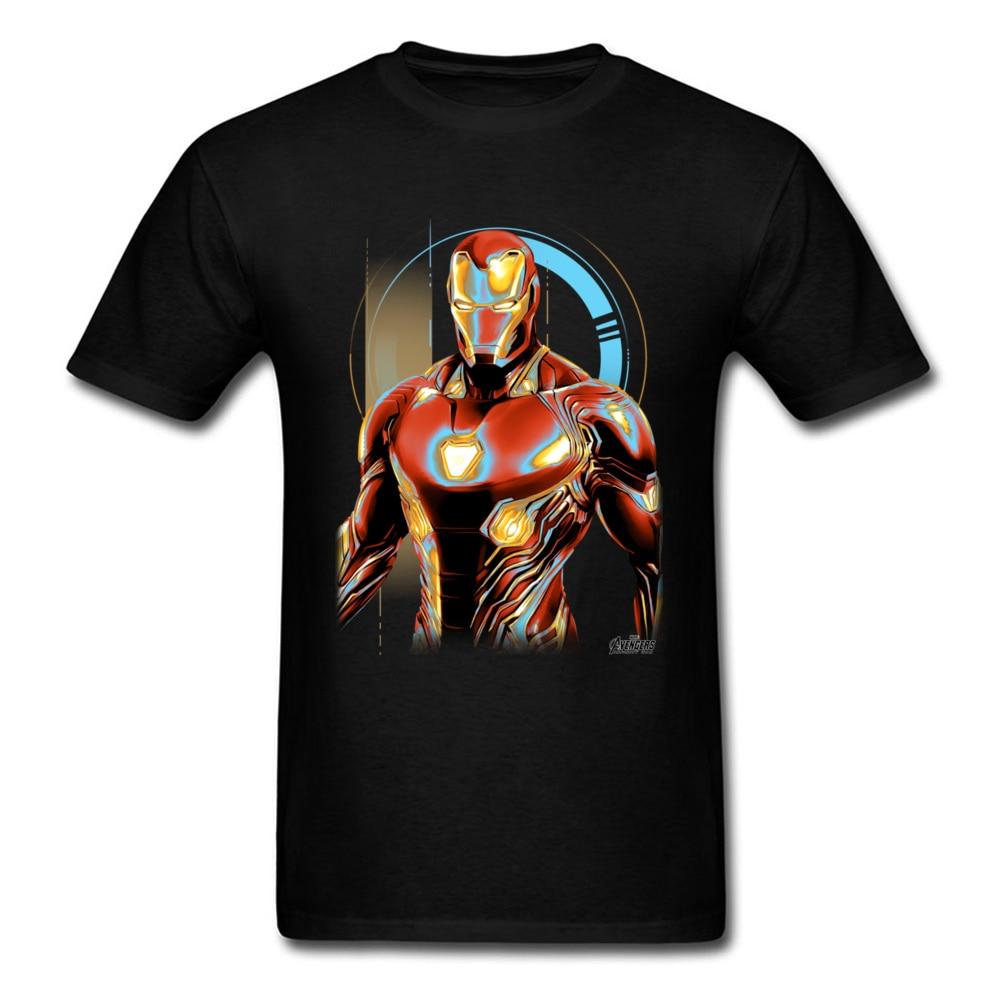 glowing iron man t shirt black short sleeve tony armor. Black Bedroom Furniture Sets. Home Design Ideas
