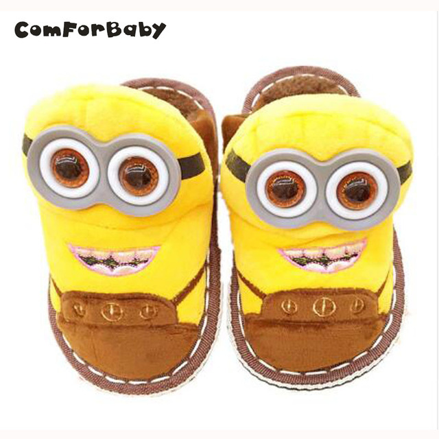 Children Slippers Home Shoes Animal Pattern Cotton Slippers Winter Indoor Slippers Children Home Despicable Me Minions CSM9144