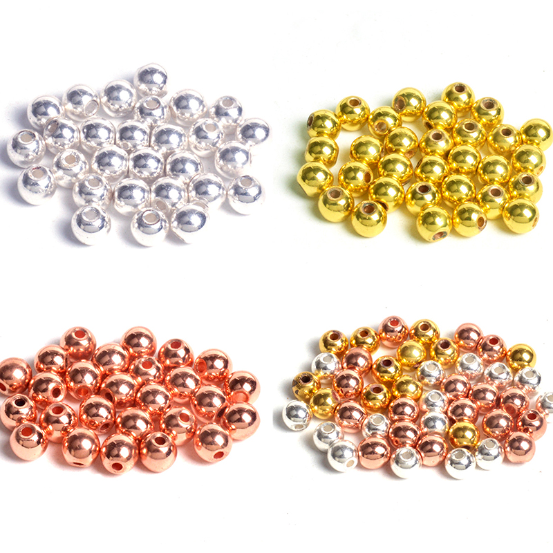 Aaa Natural Stone Beads Gold/rose Gold/silver Plated Hematite Beads For Jewelry Making 3/4/6/8/10mm Round Bedas Diy Bracelet Jewelry & Accessories Beads