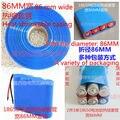 86 MM 18650 filme de PVC encolhível calor da bateria cor azul transparente calor manga retráctil contração N pele pele de bateria