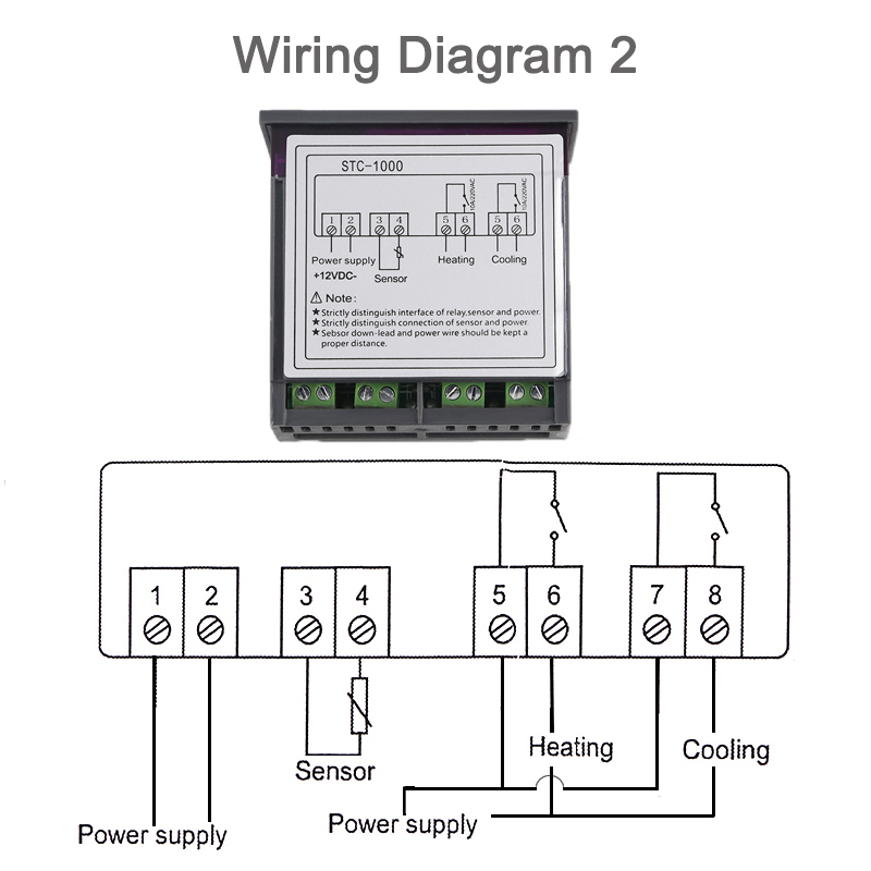 stc 1000 wiring diagram for incubator stc 1000 stc 1000 digital thermostat temperature controller  stc 1000 stc 1000 digital thermostat