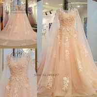 Coral Boho Vintage Wedding Dress Vestido De Noiva Princesa Wedding Gowns Lace Luxury Bride Dresses 2017