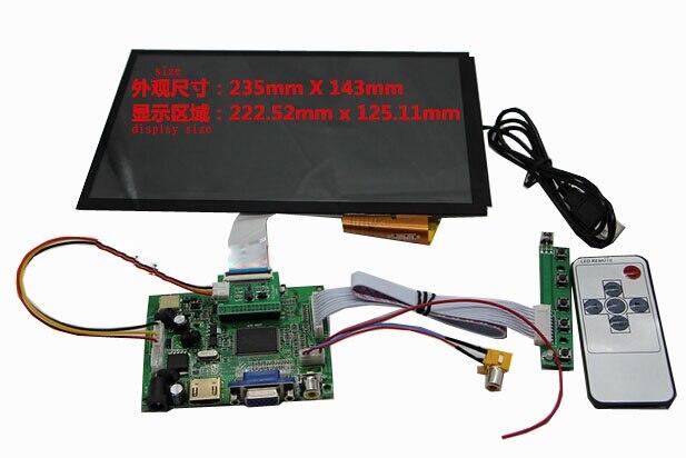 10.1 pouce DIY écran Capacitif écran tactile kit pour voiture 1366*768 DIY Affichage à Cristaux Liquides