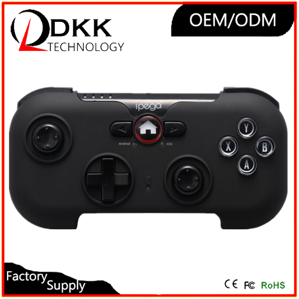 New Model IPEGA PG-9058 Black Wizard wireless Bluetooth game controller gamepad joystick with phone holder for iphone android pc
