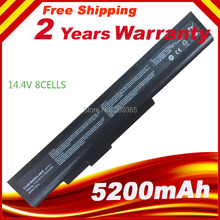 8Cell 14.4V Battery for DNS (0154706)  E6201 E6222 X6815 Laptop Battery For MSi A32-A15 A41-A15 A42-A15