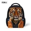 Campus Niño 12 Pulgadas Pequeñas Bolsas Escolares para Niños y niñas Patrón Encantador de la Panda Del Tigre 3D Bookbag Mochilas de Alta Calidad Mochila