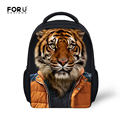 Campus Toddler 12 Inch Small School Bags for Boys and Girls Lovely Pattern Tiger Panda 3D Backpacks High Quality Bookbag Mochila