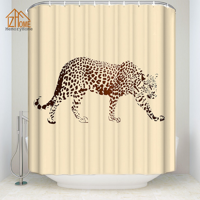 Memory Home Wild Animal Leopard Print Shower Curtain Multi Size Waterproof Polyester Fabric Bathroom Decor Free Shipping