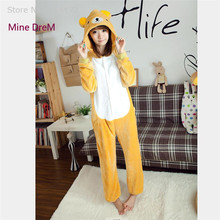 Kigurumi Relax bear onesies Pajamas Cartoon Animal cosplay Pyjamas Adult Onesies  costume party dress Halloween pijamas