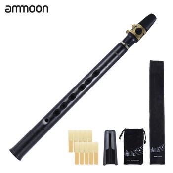 Ammoon Mini Bb saksofon saksofon ABS z Alto ustniki 10 sztuk trzciny torba do przenoszenia Instrument dęty drewniany tanie i dobre opinie Spada dostroić b (c) Mini Pocket Bb Saxophone