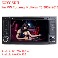 ZOYOSKII Android 8.0 8.1 7inch CAR DVD Radio GPS bluetooth Navigation player for VW Touareg Multivan T5 2002 2010