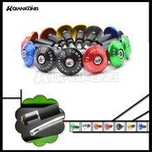 7/8″ 22mm/25mm motorcycle Handle Bar grips Ends blue color Motorbike Handlebar Grips Ends have 5 colors option