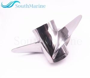 Image 2 - Boot Motor Rvs Propeller 13x17 K Voor Yamaha 60HP 70HP 75HP 80HP 85HP 90HP 115HP 130HP Buitenboordmotor 13x17 K