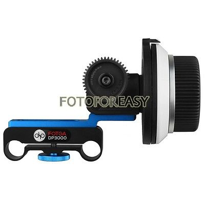 FOTGA DP3000 DSLR Follow Focus for 15mm Rod Rig 5D II III 7D GH2 60D 650D D7100