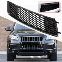 1Pair Car Left Right Bumper Lower Grill Front Lower Fog Light Lamp Cover Hood Trim Plastic