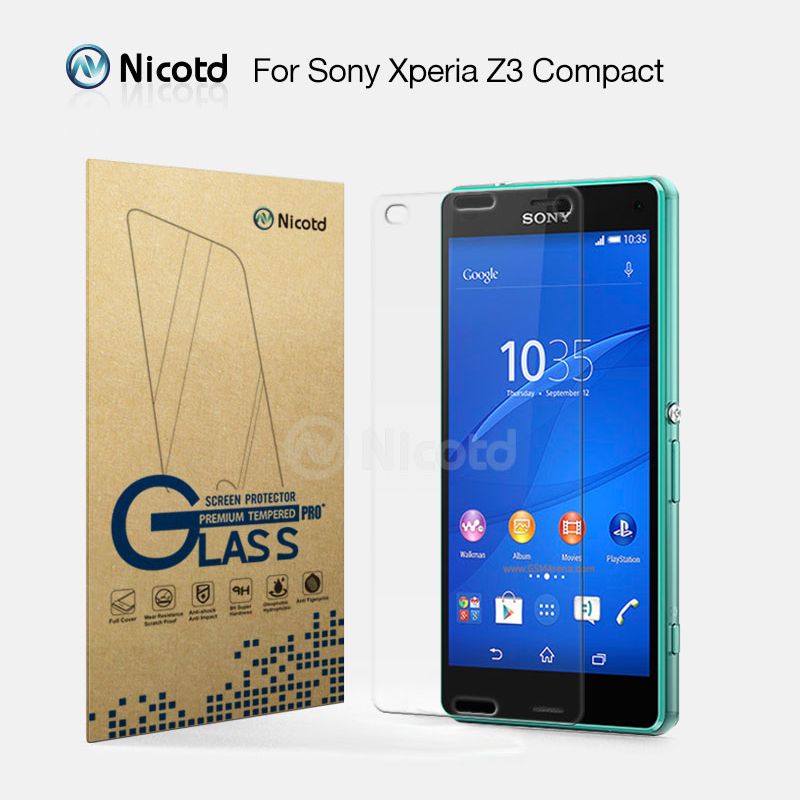 Nicotd 2.5D 9H Tempered Glass Film For Sony Xperia Z3 Compact Screen Protector For Sony Xperia D5803 D5833 for sony z3 compactNicotd 2.5D 9H Tempered Glass Film For Sony Xperia Z3 Compact Screen Protector For Sony Xperia D5803 D5833 for sony z3 compact