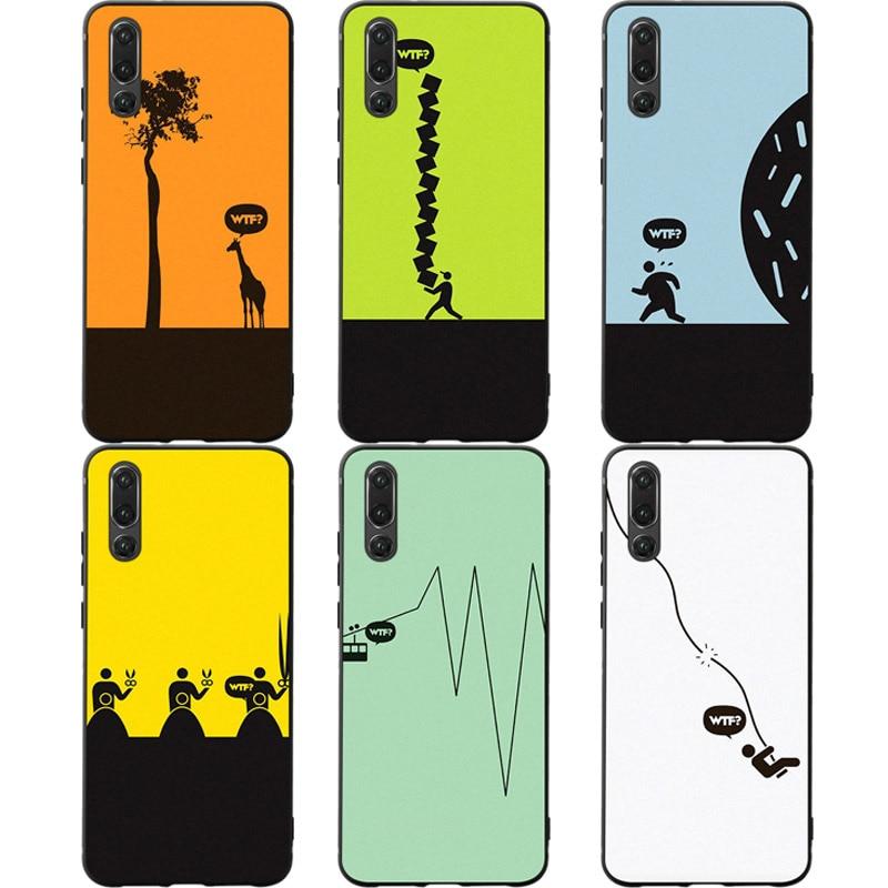 Satire Humor Funny Phone Cases Cover For Huawei P30 Lite Pro Nova