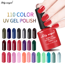 Lily ängel Nyaste 108 Magic Färger Soak Off Gel Nagellack High Mirrow Shinning UV LED Gel Färgad Flaska Förpackning 025 - 048