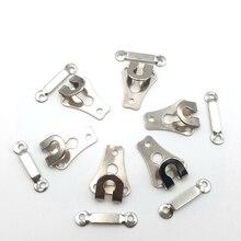 6 компл./лот 20X14 мм Высокая-класс, покрытые металлом, брюки, крючки, станок для DIY Швейные