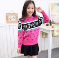 Girls Sweaters Autumn Winter Teen Kids Elegant Clothes Clothing For Girls 4-16 Years Knitted Sweater Pullover For Children Tops