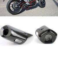 MT 07 FZ 07 Мотоцикл Мотокросс глушитель выхлопной трубы Крышка для Yamaha MT07 FZ07 07 07 2013 2014 2015 Реальные углеродного волокна