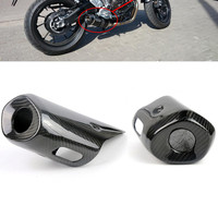 MT 07 FZ 07 Motorcycle Motocross Exhaust Pipe Muffler Cover for Yamaha MT07 FZ07 MT 07 FZ 07 2013 2014 2015 Real Carbon Fiber