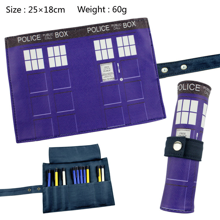 Doctor Who Canvas Roll Up Pencil Bag Anime Pencil Case Kids Boy Gift Stationery School Supplies