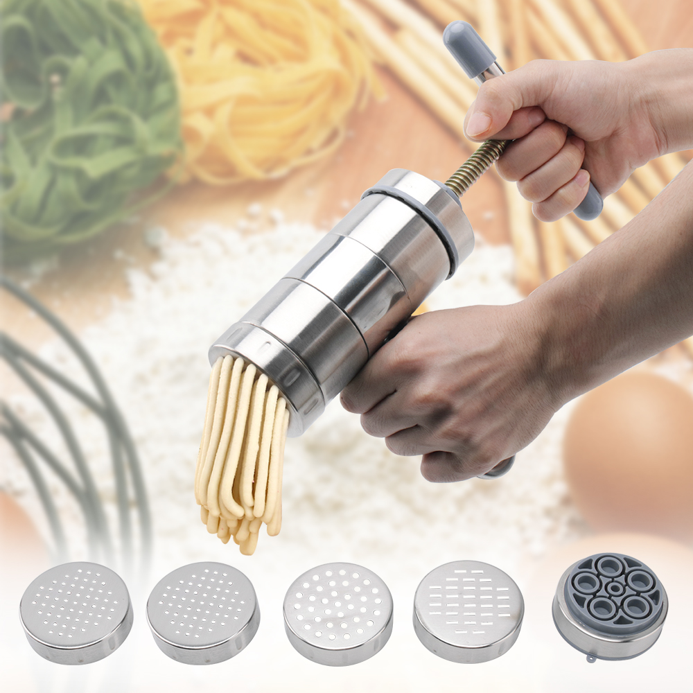 9 Stainless Steel Pasta Noodle Maker Fruit Press Spaghetti Manual Machine