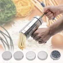 5-Mode Manual Noodle Machine Pasta Maker Kitchen Spaghetti Tools Stainless Steel Press Pates Fruit Juicer Vegetable Noodle Maker